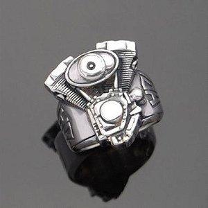 Anel Motor Harley-Davidson em prata 950k