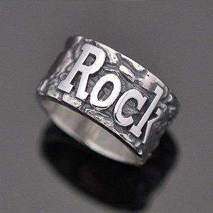 Anel Rock em prata 950k