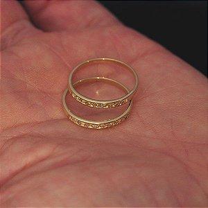 Aparadores de Alianças  em ouro 18 k com Diamantes (par)