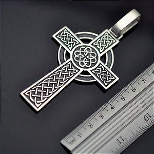 Pingente cruz celta em prata 950k (M)