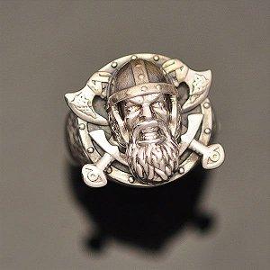 Anel Viking em prata 950k