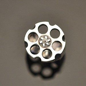 Anel Tambor Revolver (6 tiros) em Prata 950k