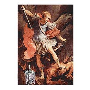 Pingente Arcanjo Miguel com Espada de fogo em prata 950k
