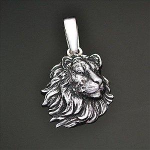 Pingente Leão em Prata 950k (Perfil)