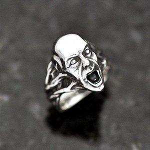 Anel Morto Vivo The Walking Dead Zumbi em prata 950k