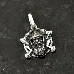 Pingente Viking em prata 950k (P)