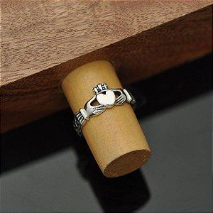 Anel Claddagh Simples em prata 950k