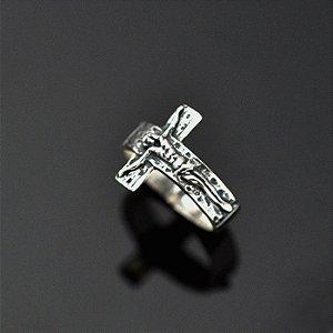 Anel Crucifixo em prata 950K - sem INRI