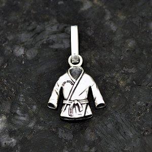 Pingente Kimono Jiu-jitsu em Prata 950k