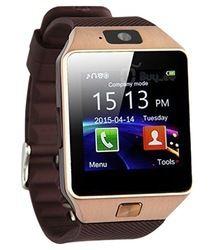 Relógio Inteligente Watshap Bluetooth E Chip Dz09  - MARROM
