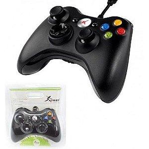 Controle Xbox 360 Original Knup Com Fio Slim E Pc Joystick