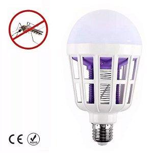 Lampada Led Mata Mosquito 15w 2 Em 1