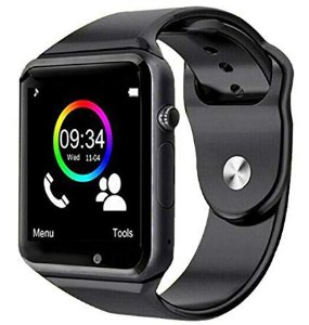 Smartwatch Câmera Smart Relógio A1 Sem Suporte A Chip - Preto