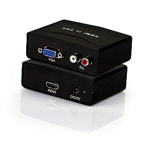 Conversor HDMI para VGA com Áudio
