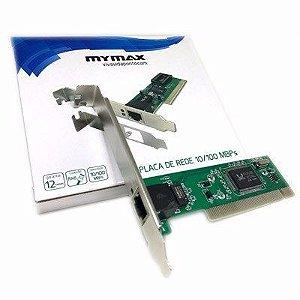 Placa De Rede Pci 10/100 Mbps Mymax Realtek 8139d