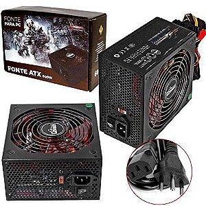 Fonte Atx 600W Real PC Gamer Super Silenciosa Bivolt