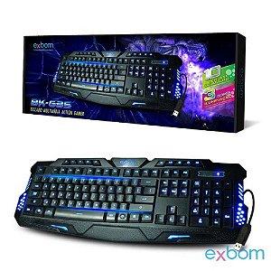 Teclado Gamer com fio USB com tecla de atalho e 3 cores iluminação-Preto BK-G35