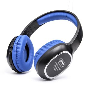 Headphone Bluetooth Knup KP-439 Preto/Azul