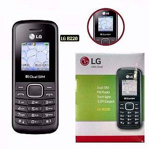 KIT Celular Dual Chip LG B220 Desbloqueado 32MB Rádio FM 03 Unidades
