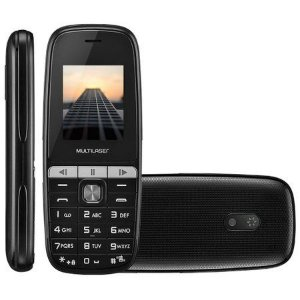 Celular UP Play Dual Chip MP3 com Câmera Preto Multilaser P9076