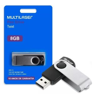 PenDrive 8gb Twist Preto PD587 Multilaser