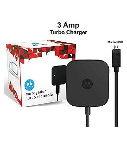 Carregador Motorola 3A TurboPower Wall Charger Micro USB