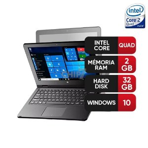 "Notebook 2 em 1 Multilaser M11W Intel Atom 2GB 32GB Tela 11,6"" Windows 10 - Cinza"