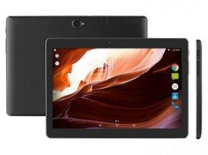 Tablet M10A Preto Quad Core Android 7.0 Dual Câmera 3G