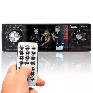 Som Automotivo Central Multimídia Mp5 Universal 4 Bluetooth Fm Usb Controle - Kp-c25bh