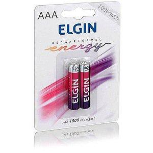 Pilha Recarregável AAA-1000 MAH - Blister c/ 2 - Elgin
