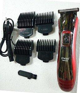 Máquina de Cortar Cabelo Elétrica Recarregável Portátil fm-125