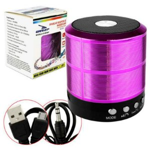 Mini Caixa De Som Portatil Speaker Ws-887 - Roxo