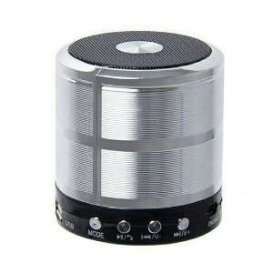 Mini Caixa De Som Portatil Speaker Ws-887 - Prata