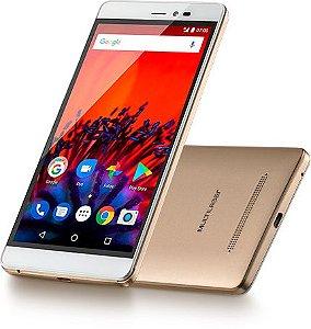 Smartphone Ms60F 4G Tela 5,5 Sensor De Impressão Digital 1Gb Ram Dual Chip Android 7 Multilaser Dourado - P9056