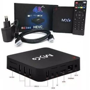 TV BOX SHAN MX9 Ultra HD, 4K,2K , Smart, Wi-fi, Netfix.