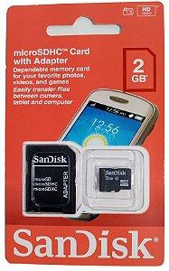 Kit Com 10 Cartões De Memória 2gb Sandisk