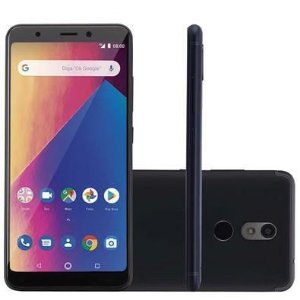 Smartphone Multilaser Ms60X Plus 2Gb Ram 16Gb Tela 5,7? Android 8.1 Câmera 13Mp+8Mp Preto - P9083