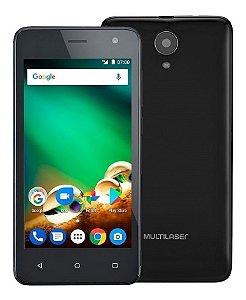 Smartphone Multilaser Ms45 4G 1Gb Preto Tela 4.5 Pol. Câmera 5 Mp + 8 Mp Quad Core 8Gb Android 7.0 - P9063