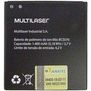 BATERIA MULTILASER BCS070 PR376 1400MAH ORIGINAL MS40G P9070/71