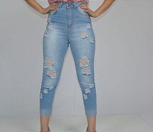 calça feminina skinny capri curta