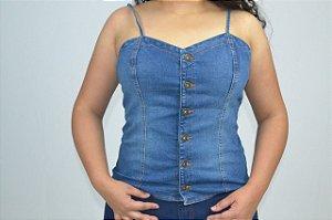 blusinha jeans lançamento