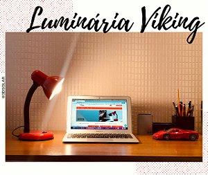 Luminária Abajur De Mesa Viking Flexível E27 Com Garantia