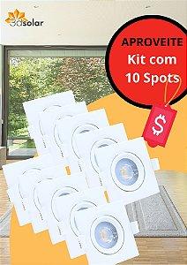 Kit 10 Spot Led 5w Quadrado Direcionável - Com Garantia  ⭐️⭐️⭐️⭐️⭐️
