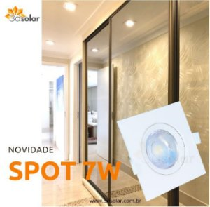Spot Led Embutir SMD 7w Par20 Quadrado - Com Garantia