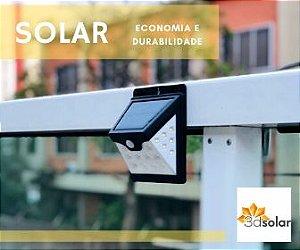 Luminária Solar Led 4w Com Sensor Prova D'água Com Garantia