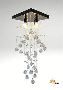 Lustre Pendente Cristal K9 Espiral Transparente Com Lâmpada ⭐️⭐️⭐️⭐️⭐️