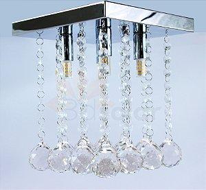 Lustre Pendente Cristal K9 Quadrado Transparente Com Lâmpada ⭐️⭐️⭐️⭐️⭐️