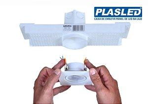 Caixa De Embutir Spot Led 5w Mr16 Para Laje - Plasled