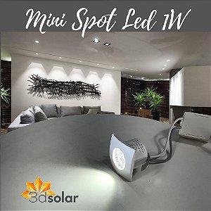 Mini Spot Led 1w De Embutir Quadrado - Com Garantia
