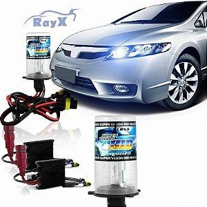 Kit Xenon Ray-X 8000K Kit composto de 2 lâmpadas e 2 reatores
